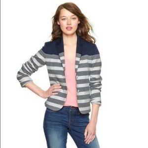 GAP The Academy Blazer Gray Stripe Nautical Blazer